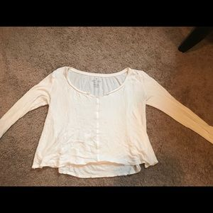 White long-sleeve scoop neck from American Eagle